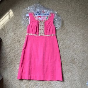 Hot Pink and Gold Lilly Pulitzer Shift Dress
